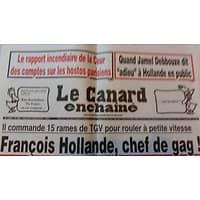LE CANARD ENCHAINE N°5006 5 OCTOBRE 2016  FRANCOIS HOLLANDE, CHEF DE GAG!