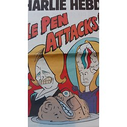 CHARLIE HEBDO n°1183 25 mars 2015  LE PEN ATTACKS!/ BALKANY/ POLLUTION/ VOTE