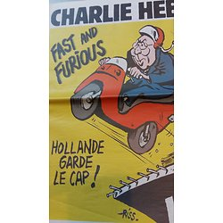 CHARLIE HEBDO N°1185 8 AVRIL 2015  HOLLANDE GARDE LE CAP/ RENSEIGNEMENT&VALLS/ INSECURITE