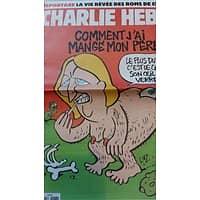 CHARLIE HEBDO N°1186 15 AVRIL 2015 LE PEN: COMMENT J'AI MANGE MON PERE/ LA VIE REVEE DES ROMS/ LE SEXE DES VILLES