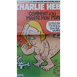 CHARLIE HEBDO n°1186 15/04/2015  Le Pen: Comment j'ai mangé mon père/ La vie rêvée des roms/ Le sexe des villes