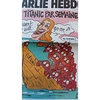 CHARLIE HEBDO N°1187 22 AVRIL 2015 UN TITANIC PAR SEMAINE/ CHARB/ BOOBA/ PHILARMONIE DE PARIS/ INTERNET