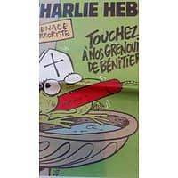 CHARLIE HEBDO N°1188 29 AVRIL 2015 MENACE TERRORISTE: TOUCHEZ PAS A NOS GRENOUILLES DE BENITIER!