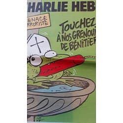 CHARLIE HEBDO n°1188 29/04/2015  Menace terroriste: Touchez pas à nos grenouilles!