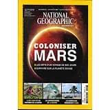 NATIONAL GEOGRAPHIC N°206 NOVEMBRE 2016  COLONISER MARS/ PIEUVRE/ AMERICAINS A CUBA/ SRI LANKA