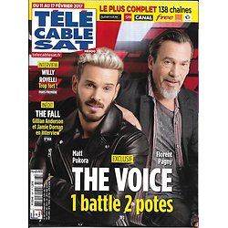 TELECABLE SAT n°1397 11/02/2017  POKORA&PAGNY/ THE VOICE/ THE FALL/ ANDERSON&DORNAN/ ROVELLI