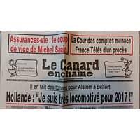 """LE CANARD ENCHAINE N°5003 14 SEPTEMBRE 2016 HOLLANDE """"JE SUIS TRES LOCOMOTIVE POUR 2017!"""""""