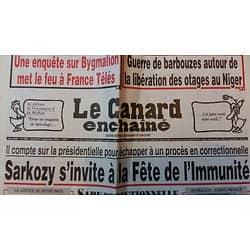 LE CANARD ENCHAINE n°5002 07/09/2016 SARKOZY S'INVITE A LA FETE DE L'IMMUNITE