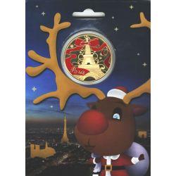 75-PARIS - Tour Eiffel (Joyeux Noel)