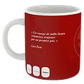 Mug Citation Orient fond rouge