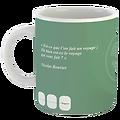 Mug Citation Extrême Orient fond vert