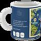 Mug Planisphère bleu