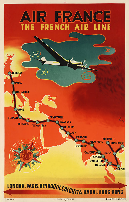 Affiche The French Air Line 50X70 A015