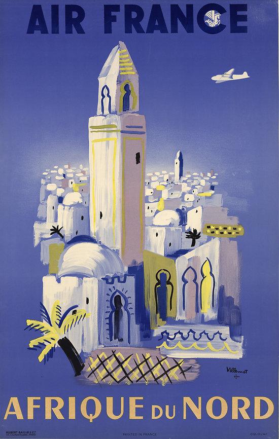 Affiche Afrique du Nord (Minaret) 50X70 A019