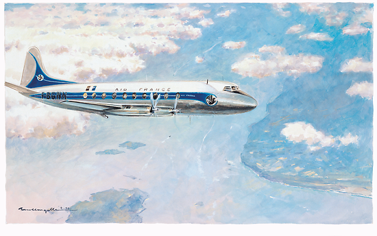 Gouache Vickers Viscount
