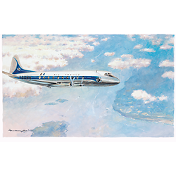 Gouache Vickers Viscount