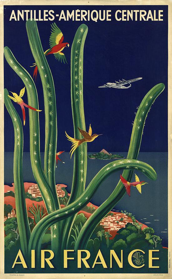 Affiche Antilles & Amérique Centrale 63x100 A031BIS