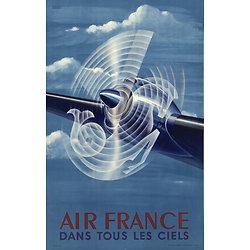 Affiche Air France dans tous les ciels 63x100 A033