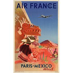 Affiche Paris Mexico 63x100 A060