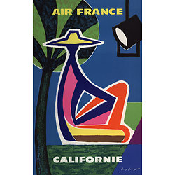 Affiche Air France Californie 63x100 A107