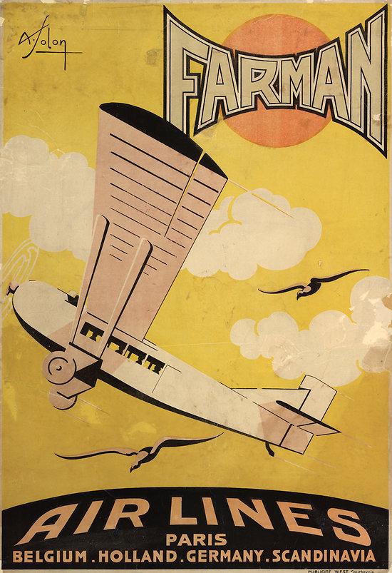 Affiche Air France Farman 63x100 A264