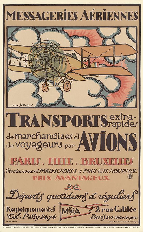 Affiche Air France Messageries aériennes 63x100 A288