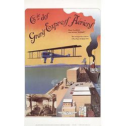 Affiche Grand Express aérien 63x100 A562