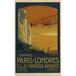 Affiche Paris Londres Service 63x100 A563