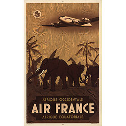 Carte postale Air France Afrique
