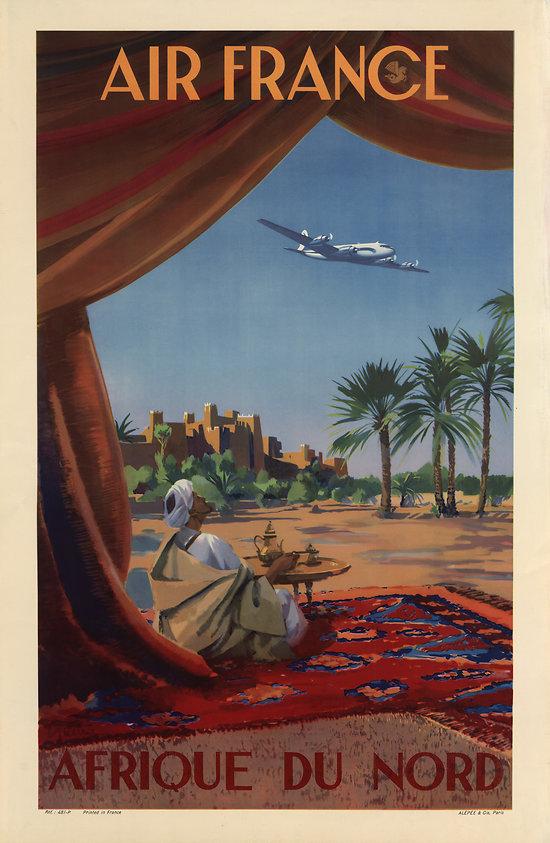 Carte postale Air France Afrique du Nord A043