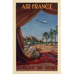 Carte postale Air France Afrique du Nord A043