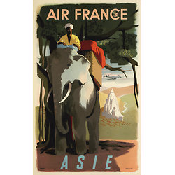 Carte postale Air France Asie