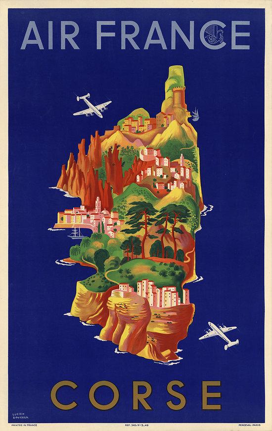 Carte postale Air France Corse