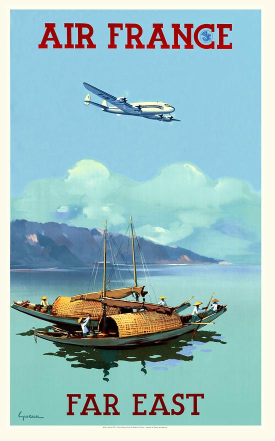 Carte postale Air France Far East A044 Ter