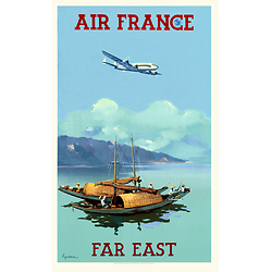 Carte postale Air France Far East A044 Ter