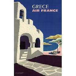 Carte postale Air France Grèce