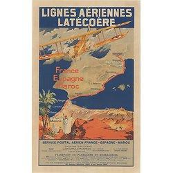 Carte postale Air France Lignes Latécoère A315