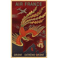 Carte postale Air France Orient & Extrême Orient A021