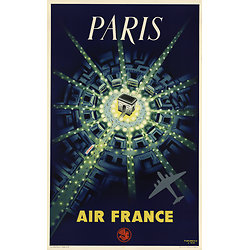 Carte postale Air France Paris Arc de Triomphe