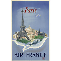 Carte postale Air France Paris Tour Eiffel A058