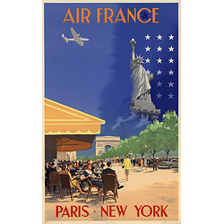 Carte postale Air France Paris New York A054
