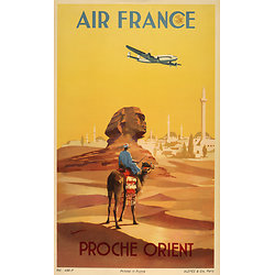 Carte postale Air France Proche Orient A560
