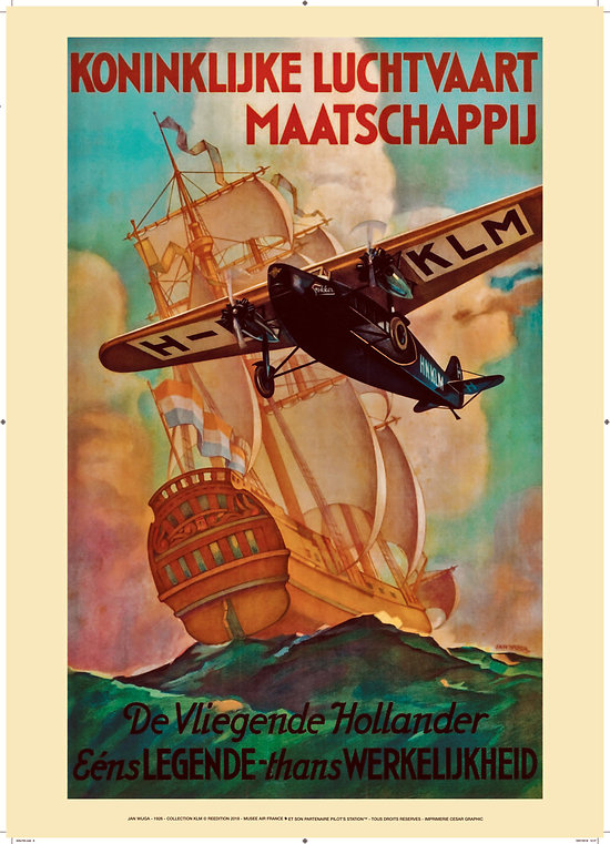 Affiche KLM Fokker 1926 50x70 AK01