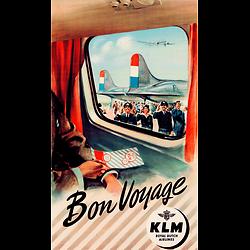 Affiche KLM Bon Voyage 1951