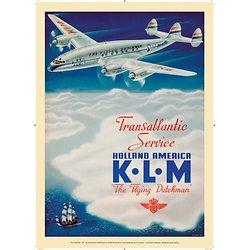 Affiche KLM Holland America 1946