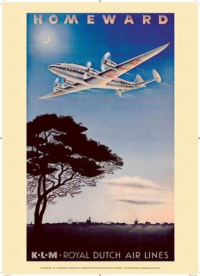 Affiche KLM Homeward 1944 50x70 AK02