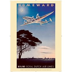 Affiche KLM Homeward 1944 50x70 AK02