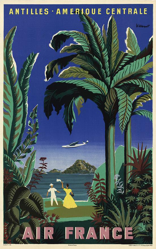 Affiche Antilles Amérique Centrale 50X70 A030