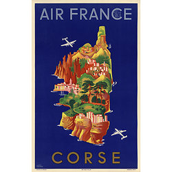 Affiche Air France Corse 50X70 A035