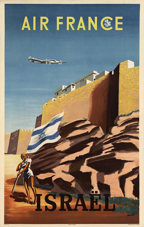 Affiche Air France Israël 50X70 A037